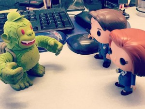 Mulder and Scully investigate the strange case of Mail….Kimp?? @mailchimp #mulder #scully #mailkimp @thexfilesfox