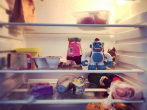 adambutler1: Yeti Freddie has a new home… In my fridge ^_^ cc/ @mailchimp