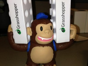 """Love my Freddie toy from @MailChimp! Freddie should compete in the world's strongest chimp competition."""
