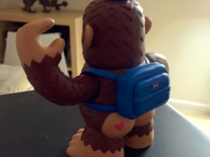 """Love the buttcheek tattoo on my new @MailChimp Freddie figurine! :-) #lol"""