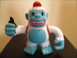 """@MailChimp sent a companion for my #VO studio and he arrived today. Yeti Freddie easily makes new friends!!! SO COOL!"""