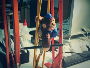 """@MailChimp Thanks for sending us Freddie. He already conquered our lamps :)"""