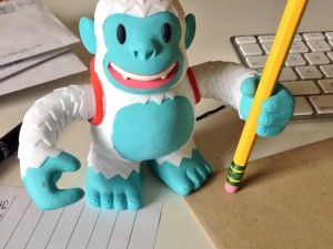 """Yeti Freddie came in the mail the other day, great toy for the desktop, thanks @MailChimp"""