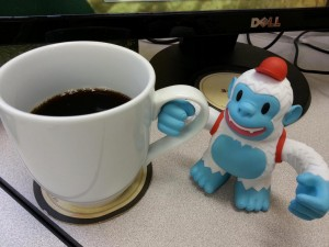 """LOL RT @ImMarkBernhardt: Thanks for sending office helper @MailChimp Yeti Freddie already knows how I take my coffee."""