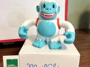 """Look who arrived today. It's Yeti Freddie from @MailChimp a fun addition to the team at the London Food Bank."""