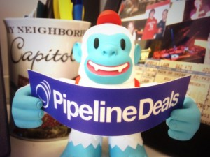 """Thanks @MailChimp for the Yeti Freddie.  We're happy customers @PipelineDeals."""