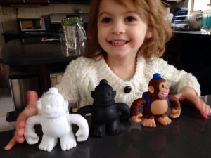 """A #Freddie or three from @MailChimp makes the kid smile. (Makes me smile, too.) Thanks, guys."""