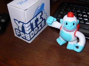 """Thnx @mailchimp for the awesome Yeti Freddie, King of my Desk."""