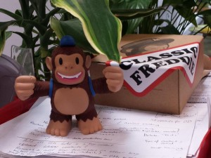"""Just received my Classic Freddie. Looking good on my in-tray @MailChimp"""