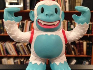 """Hey, @MailChimp sent me this Yeti Freddie, and now I'm not lonely any more."""