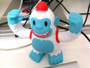 """Thank you friends at @MailChimp for sending me this awesome Yeti Freddie toy! What a nice surprise!"""