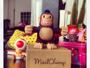 """We got Freddie from @MailChimp at @LewisandCarroll!!! :):) Thank you so much! All the team loved it!!!"""