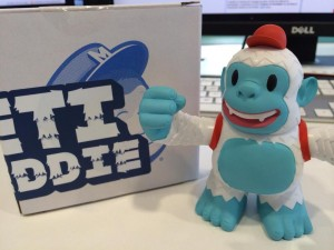 """Thanks @MailChimp Yeti Freddie arrived in the post this morning!!"""