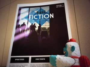 """Our @mailchimp friend #freddie arrived today and he's rather taken with our first issue. http://t.co/Wmv6Sz7V3P"""