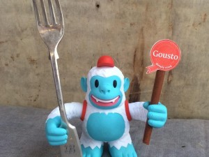 """Yeti Freddie has made it over to our test kitchen! @MailChimp"""