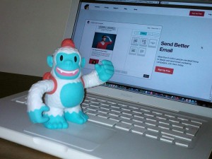 """Yippee! Thanks @MailChimp for our vinyl Freddie!"""