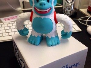 """Got our free Yeti Freddie from @MailChimp thanks a million! #luvfreebies"""