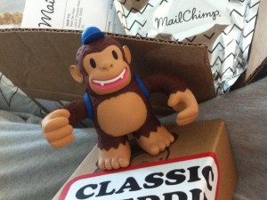 """Just received my Classic Freddie from @MailChimp!! Thanks guys! #mailchimp #newsletter #monkey #loveit #shanghai"""