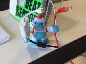"""We found a new use for our @MailChimp Freddie Yeti, just need more for the whole team now… :)"""