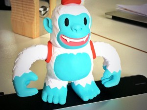 """Love my new Yeti Freddie toy, thanks for the freebie @MailChimp :)"""