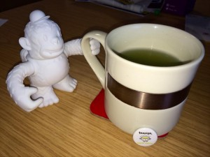 """@teapigs trying our first cup of #Matcha in the office at @esg_ltd. Even @MailChimp #freddie wants a taste  #greentea"""