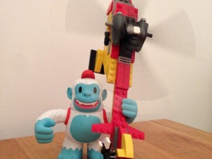 """@MailChimp's Yeti Freddie went all King Kong on me. #lego"""