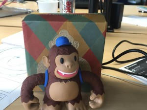 """Thanks to @MailChimp and @replyall, Freddie has made it to Bristol!"""