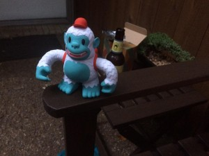 """Received a Yeti Freddie from @MailChimp today. Thanks, @replyall! @david_sizemore did you have a hand in designing?"""