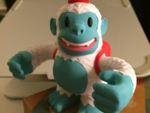 """Finally got my @MailChimp Yeti Freddie!  I plan on sticking him in a big ice cube like in the video."""