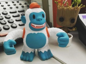 """""""My @replyall/@mailchimp Yeti Freddie is right at home next to baby Groot on my desk. http://t.co/bTWF55xLx3"""""""