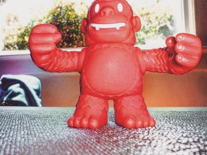 """""""My Reddie Freddie showed up today from @Mailchimp via @replyall. Thanks Reply All, and MailChimp! #ReddieFreddie"""""""