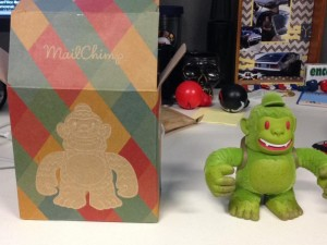 Just got my Freddie! Thanks @replyall and @MailChimp!