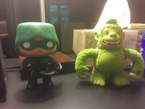 @MailChimp Swampy Freddie hanging out with @CW_Arrow @amellywood @OriginalFunko
