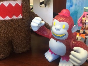Night crew Freddie meet Domo! My desk just got a little happ