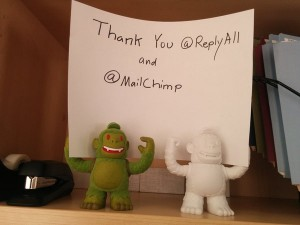 Thanks for the Freddies @replyall and @MailChimp #gimletmedi