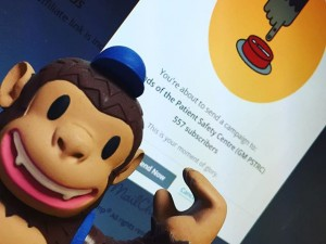 First day back at work and already Freddie the @mailchimp is hard at work with new campaigns!#mailchimp #mailchimpdidit #mailchimpfreddie