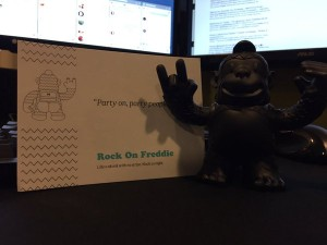 Got my Freddie! Thanks to @replyall @MailChimp #RockOnFreddi