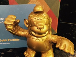 Gold Freddie arrived! Thanks @MailChimp and @replyall!